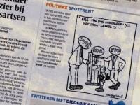 Politieke spotprent in de Volkskrant van 02 juni 2010 ::  D66 mag pas meeregeren als het groot genoeg is ....